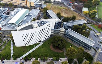 Deakin University - Aerial photo of Deakin University's Building C in Burwood