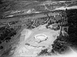 Aerial view looking SW at Memorial Amphitheater under construction - Arlington National Cemetery - Arlington County VA USA - 1919.jpg