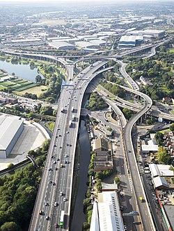 Aerial view of M6A38 Spaghetti Junction.jpg