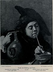 Smoking Boy holding a Jug in his right hand