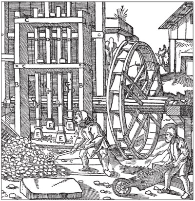 Agricola Stamp ore crusher.png