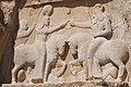 Ahura Mazda (right) Invests Ardashir I With the Ring of Kingship (4895917806).jpg
