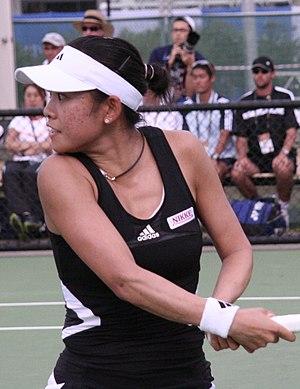 Aiko Nakamura - Image: Aiko Nakamura 2007 Australian Open womens doubles R1