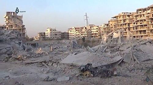 تخریب عینترما در سوریه طی حملات ارتش سوریه، ۲۴ سپتامبر ۲۰۱۷
