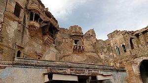 Aina Mahal - Damaged exterior