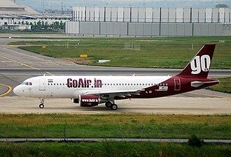 GoAir - Image: Airbus A320 200 Go Air (GOW) F WWDU MSN 3800 Will be VT WAK (3538920380)