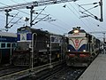 Ajmer-Kishanganj Express led by MLDT WDM3A an LKO WDM3A jealously competes with him in beauty contest MLDT guy is one of the rarest in NFR with GM style DBR and also painted in shed livery - Flickr - Dr. Santulan Mahanta.jpg