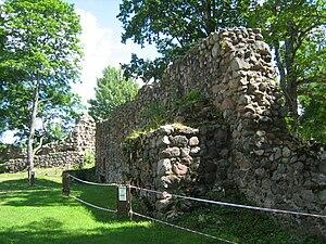 Alūksne Castle - Image: Alūksne Castle southern wall inside