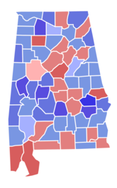 Alabama senate election results by county, 1980.png