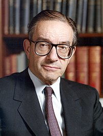 Alan Greenspan, former chairman of the Board o...