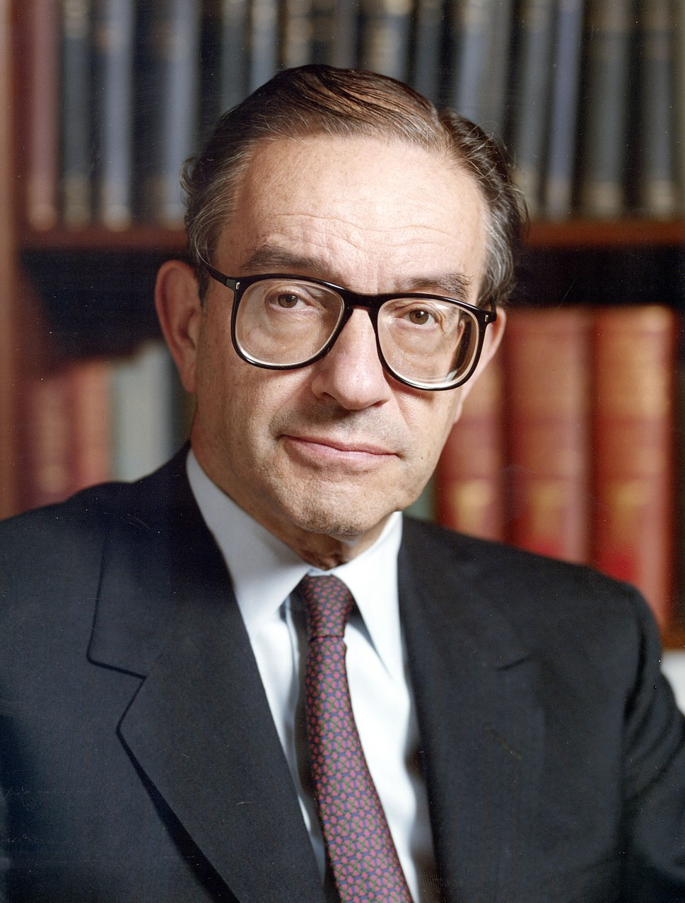 Alan Greenspan color photo portrait