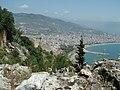 Alanya - Weg vom Hafen-Roten Turm zur Nordbastion per Fuß weg von der Strasse - direkt hoch - panoramio.jpg