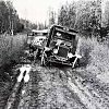 Vehicle being towed out of the mud, 1939, Alaska Rt 51 mile 16