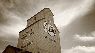 Wheat pools in Canada - Old wheat pool grain elevator in Alberta, Canada