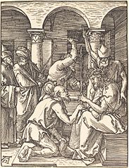 Christ being crowned with thorns