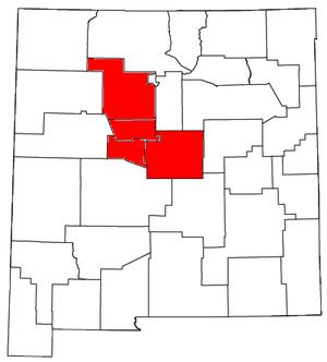 Albuquerque metropolitan area - Image: Albuquerque Metropolitan Area
