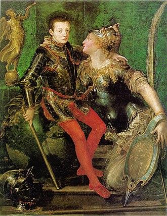 Girolamo Mazzola Bedoli - Girolamo Mazzola Bedoli, Allegorical Portrait of Parma Embracing Alessandro Farnese, Galleria Nazionale di Parma.