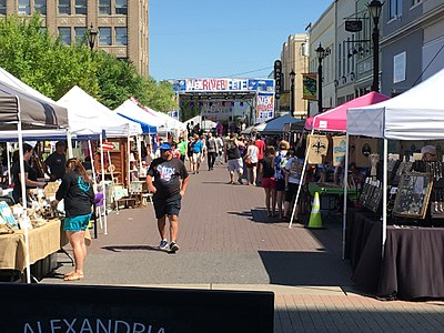 Booth Venues At The Annual Alex River Fête In Downtown Alexandria