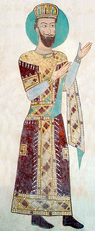 Alexander II of Imereti - A mural of Alexander II from Gelati monastery