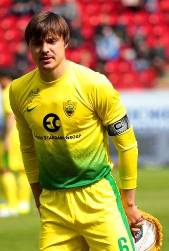 Alexandru Epureanu - Epureanu as the captain of Anzhi Makhachkala in 2014.