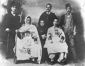 Habib Bourguiba - Ali Bourguiba surrounded by his sons Mohamed, Ahmed, M'hamed, Mahmoud and Habib