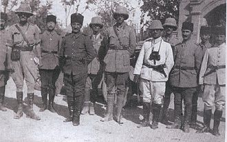 Mosul Question - English and Ottoman officials meet in northern Iraq during November 1918
