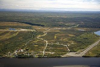 Allakaket, Alaska - Aerial view of Allakaket