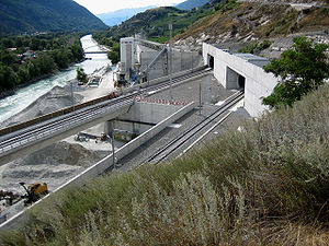Lötschberg Base Tunnel - South portal near Raron