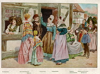 Alsace - Traditional costumes of Alsace