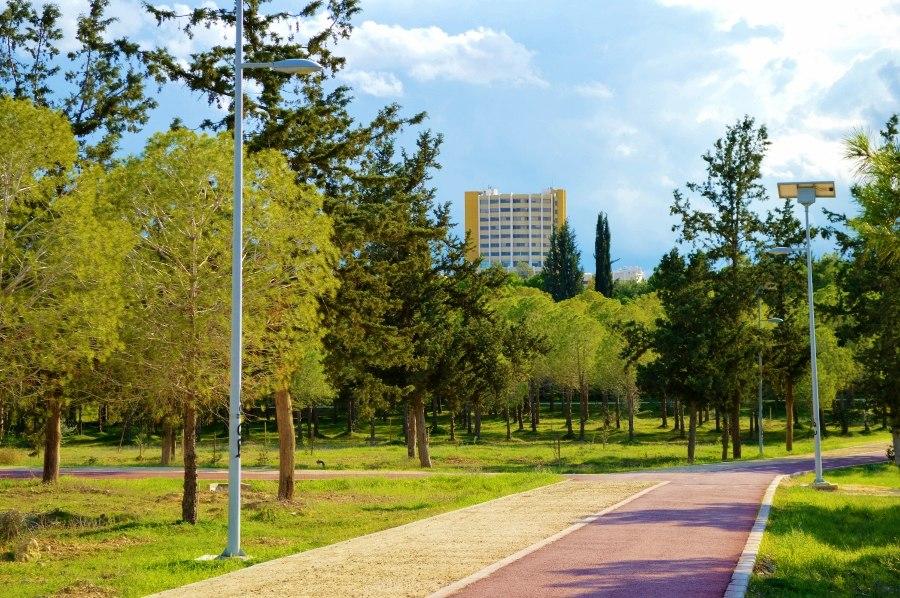 Alsos Akadimia park Nicosia view of Aglantzia