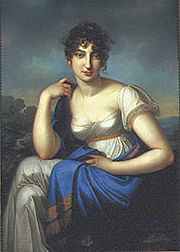 Amalie Beer, Meyerbeer's mother, painting by Carl Kretschmar[de], c. 1803 (Source: Wikimedia)