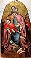Ambito bolognese, madona col bambino, ss. geminiano, antonio abate e due offerenti, 1300-50 ca. 01.JPG