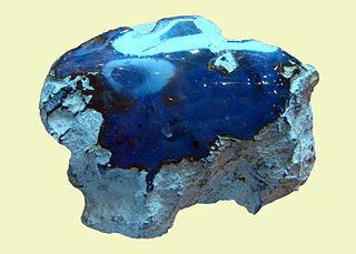 Blue amber A rare variety of amber resin with a blue color