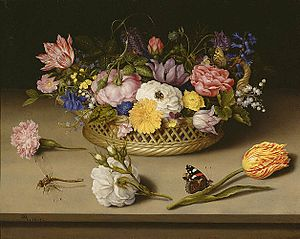 Flowers are common subjects of still life pain...