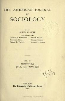 American Journal of Sociology Volume 11.djvu