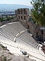 Amphitheatre in the Acropolis, Athens, Greece - panoramio.jpg