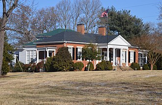 National Register of Historic Places listings in Cumberland County, Virginia - Image: Ampthill farmhouse from southwest