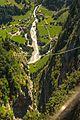 An airy foot bridge above the Lauterbrunnen Vally near Gimmelwald (10955385095).jpg
