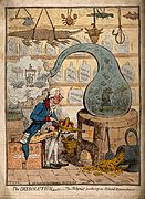 An alchemist using a crown-shaped bellows to blow the flames Wellcome V0011302.jpg