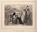 An allegory of cholera mortality. Etching by A. Burdet after Wellcome V0010487.jpg