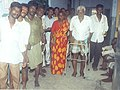 An elderly person with walker coming t a polling station to cast his vote at Chennai on May 10, 2004.jpg