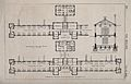An official floor plan and transverse section with scale for Wellcome V0015773.jpg
