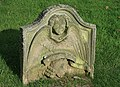 An old gravestone in Legerwood Churchyard - geograph.org.uk - 902080.jpg