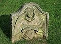 An old gravestone in Legerwood Churchyard - geograph.org.uk - 902080.jpg