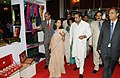 Anand Sharma going round after inaugurating the Hastkala Conclave –Retail Summit, in New Delhi on August 17, 2012. The Secretary, Ministry of Textiles, Smt. Kiran Dhingra is also seen.jpg