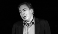 Andrew Lloyd Webber at the set of