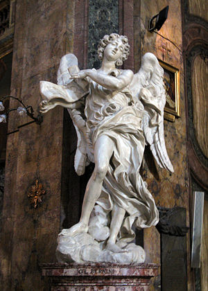 Sant'Andrea delle Fratte - Image: Angel with the Superscription by Bernini