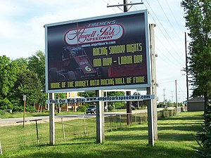 Angell Park Speedway - Welcome sign