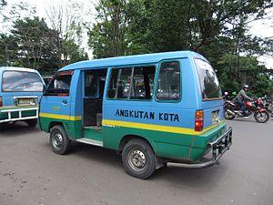 Share taxi - An Angkot in Bandung, West Java