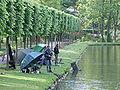 Angler am Kalkumer Schloss - DSCF0217.JPG